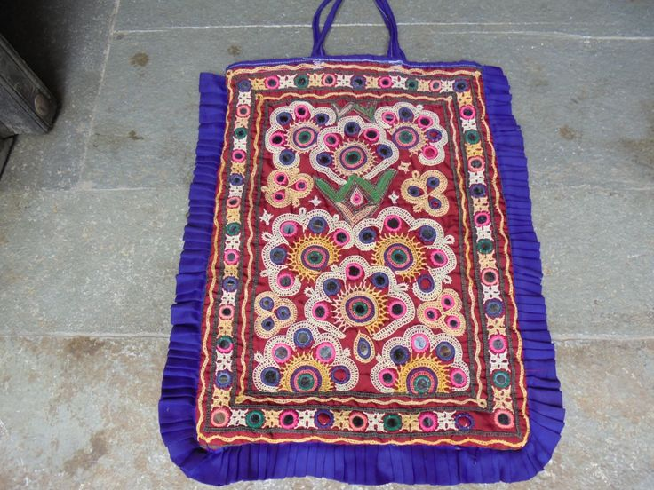 Rabari Banjara Tribal Dowry Bag Sack Hand Embroidered Glass Work. by LallibhaiIndia on Etsy