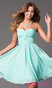 Buy Short Strapless Sweetheart Dress at PromGirl $119