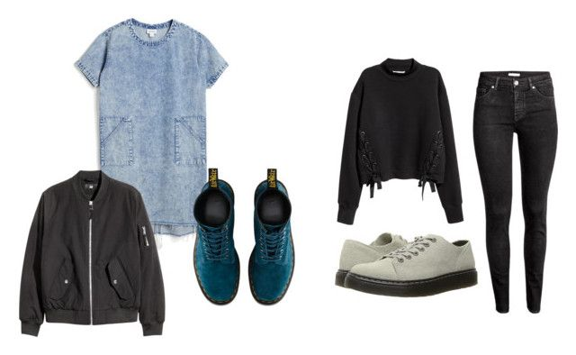"""""""Dreaming of spring"""" by eline-storli on Polyvore featuring Monki, Dr. Martens and H&M"""
