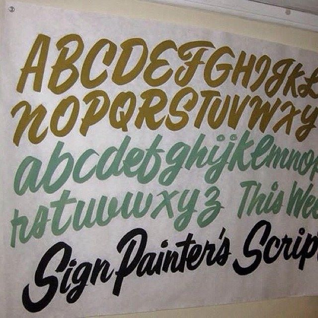 Great casual script - Missing the M and Z!  typehunter #signwriting #signpainting #signspecimen
