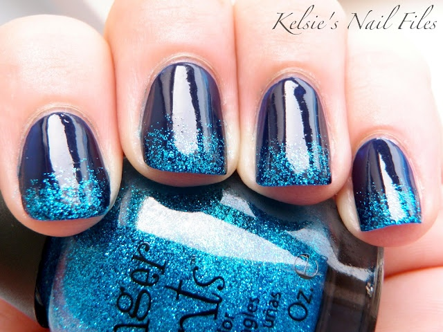 Finger Paints - Laugh My Art OffNailart, Manicures Ideas, French Manicures, Cute Nails, Nails Manicures, Nails Art Design, Mac Pigment, Ocean Nails, Blue Nails
