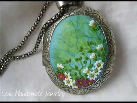 ▶ Mini Tutorial Tutorials about Polymer Clay Embroidery Technique Clay Applique Flowers - YouTube