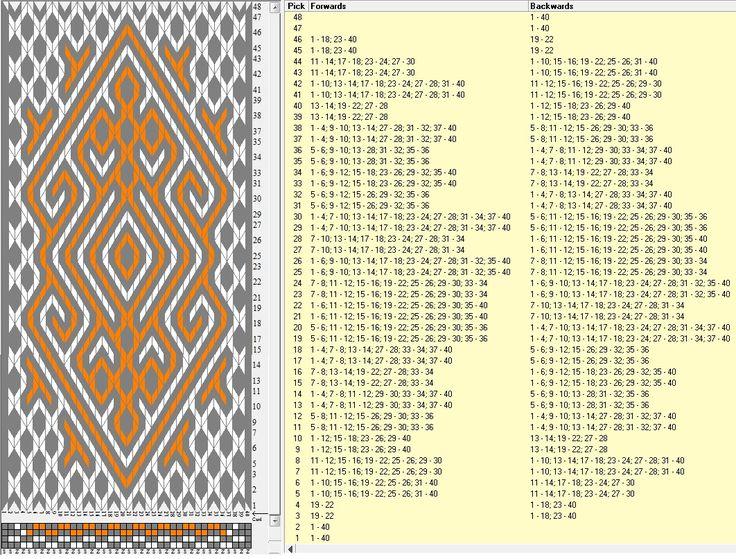 40 tarjetas, 3 colores, completa dibujo en 48 movimientos // sed_989 diseñado en GTT༺❁