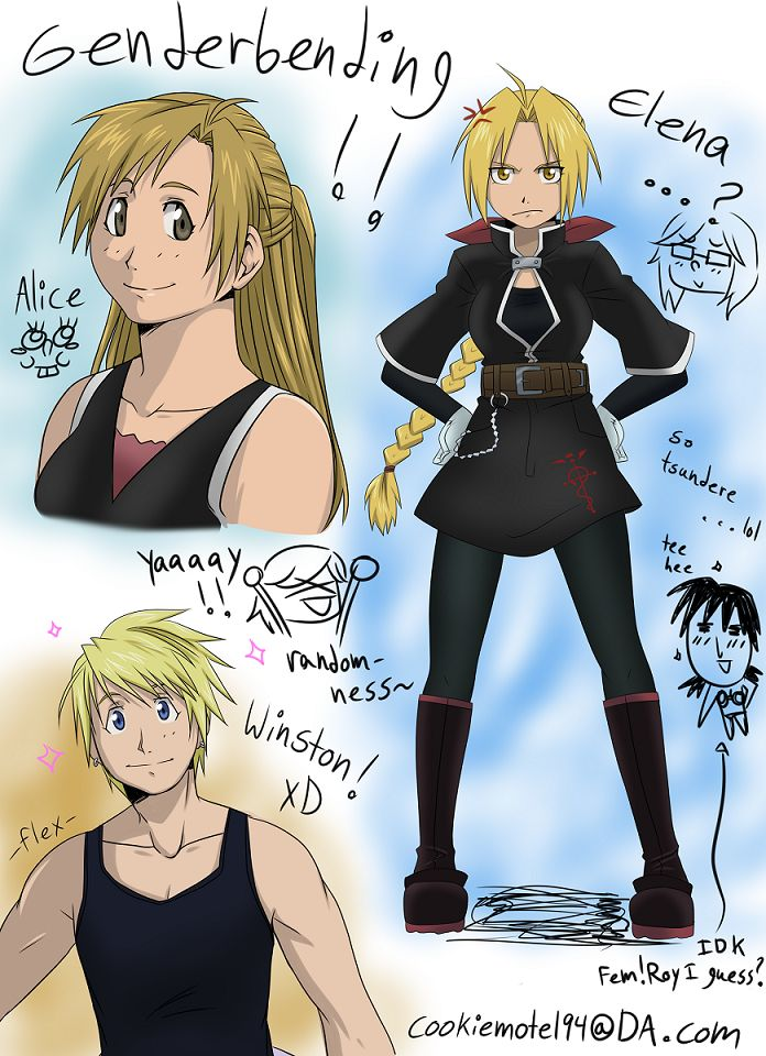 fullmetal alchemist brotherhood genderbend - Google Search I really like the fem…