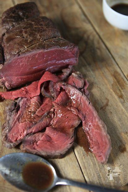 roast beef cot to a bassa temperatura