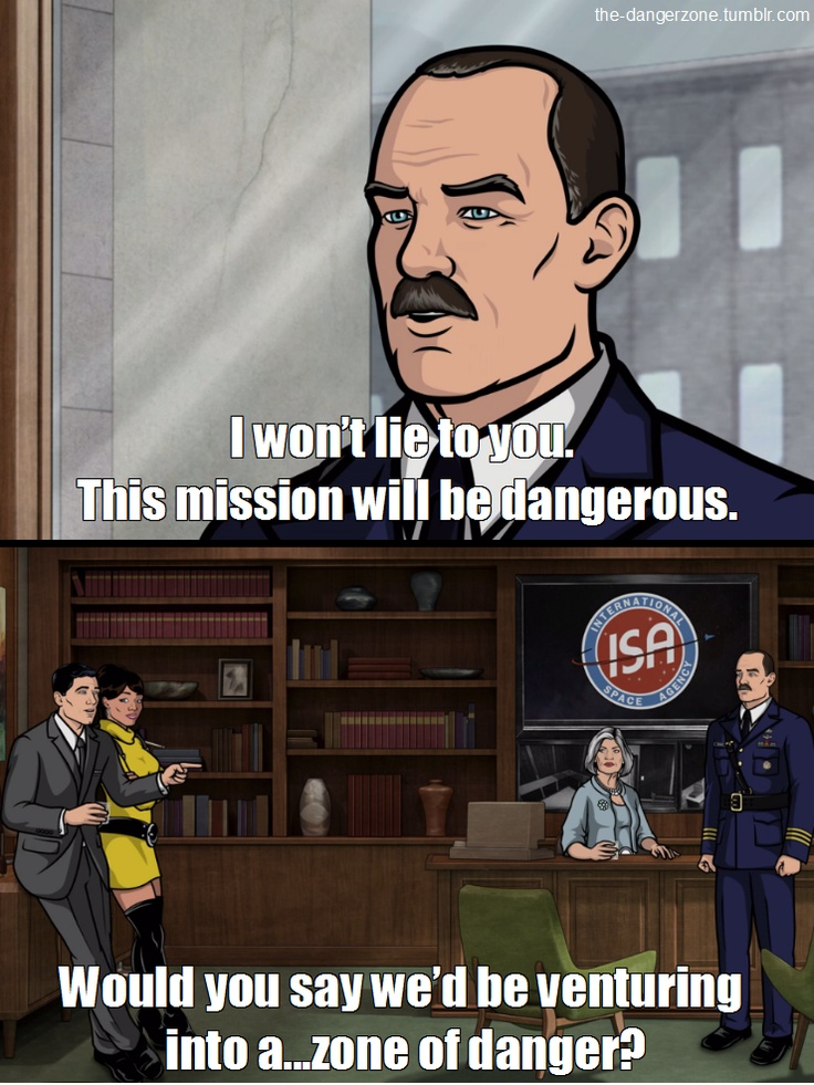 I've started a love affair with Archer. Can't believe it took me so long...