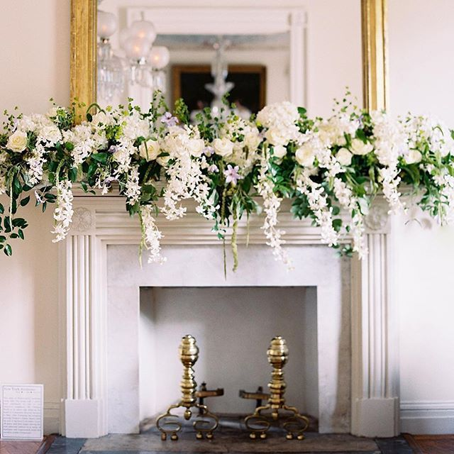 If only every fireplace mantle could look this lush and