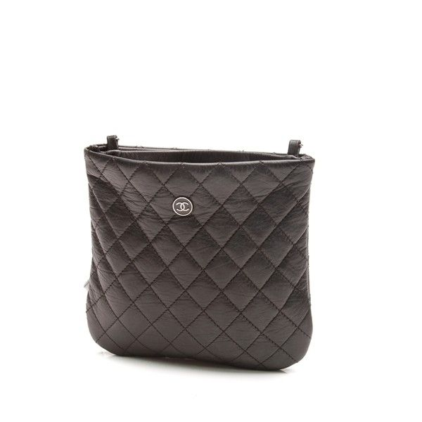 c165a286951 Pre-Owned Chanel Black Quilted Leather Employee Uniform Crossbody Bag  ( 995) ❤ liked on Polyvore featuring bags, handbags, black, pre owned…