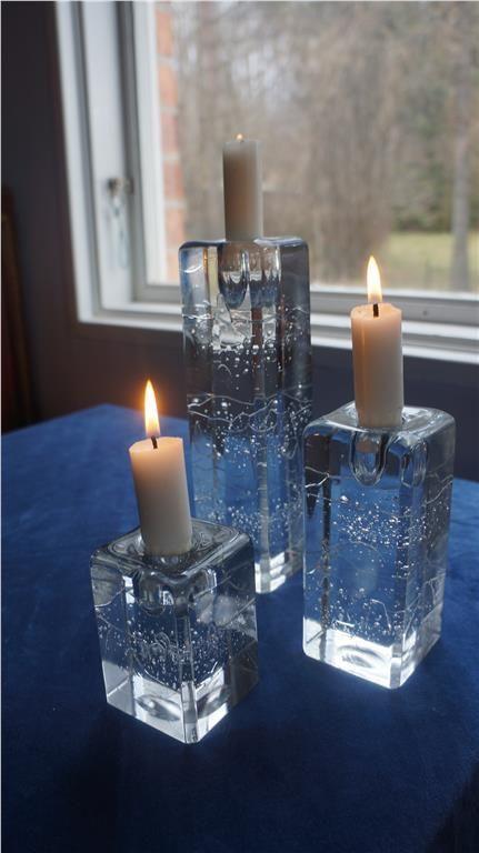 IIttala, Arkipelago, tre ljusstakar, design Timo Sarpaneva på Tradera.
