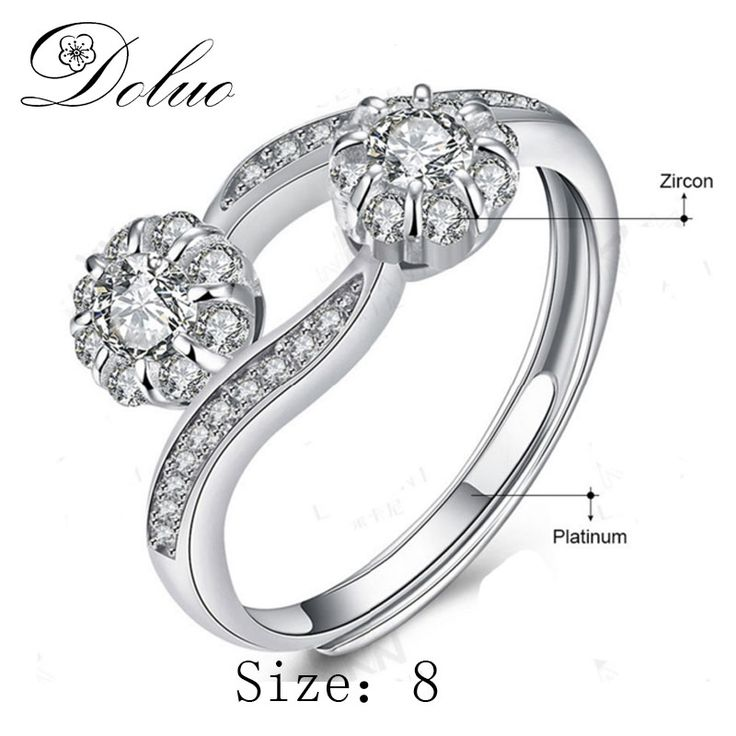Cheap 925 sterling silver ring, Buy Quality wedding rings directly from China sterling silver rings Suppliers: Doluo High quality jewelry three flower zircon 925 sterling silver ring Jewelry Wedding ring
