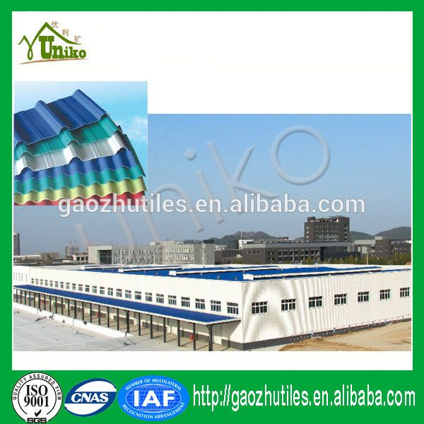 2017 New Products Chinese Supplier Long Service Life Building Materials  Cheap Upvc Roof Tiles Prices PVC