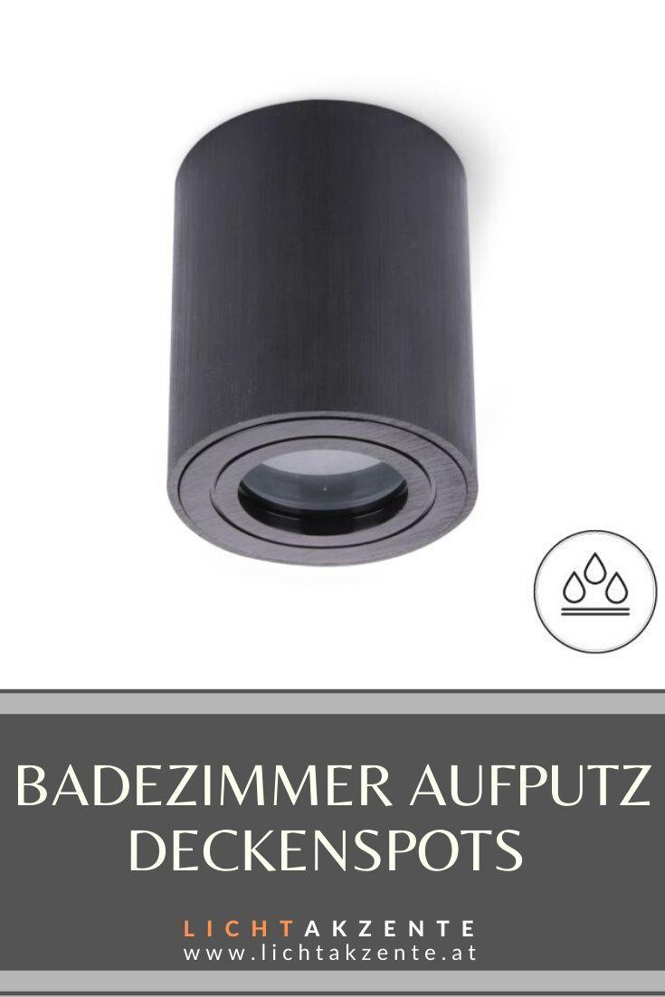 Badezimmer Deckenstrahler Rund Aquarius Ip44 Schwarz In 2020 Deckenspots Aufbauspots Deckenleuchte Kuche