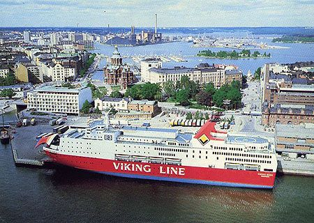The Viking Line: book a table for the two-hour sitting at the all you can eat seafood buffet. Wine and beer on tap. A good way to visit Stockholm and Helsinkin in one mini break. Or you could take it to Turku and bike round the archipelago