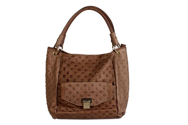 Brown Leather Saddle Bag from the RB fall collection.    #GBmoda #AbuDhabi #Fashion #Roccobarocco