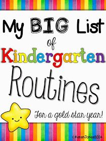 Mrs. Jones's Kindergarten: Routines, Routines, Routines!