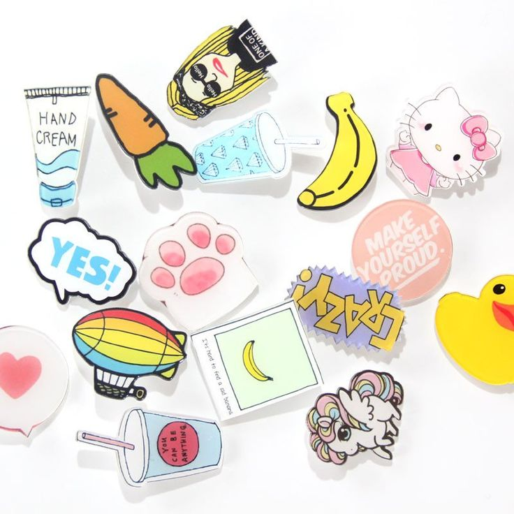 Trendy Acrylic Brooches