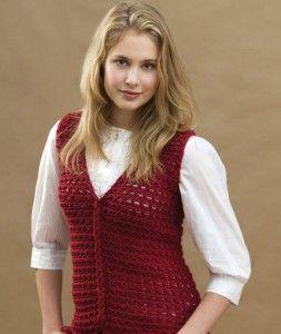 Free Crochet Vest Pattern Red Heart Yarns