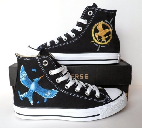 hunger games shoes i need to get some shoe paint now!