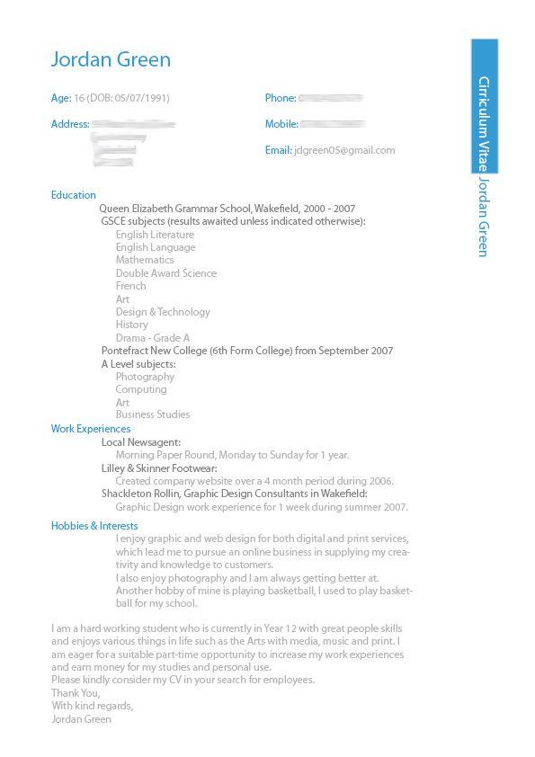 My CV Design by jordygreen on deviantART