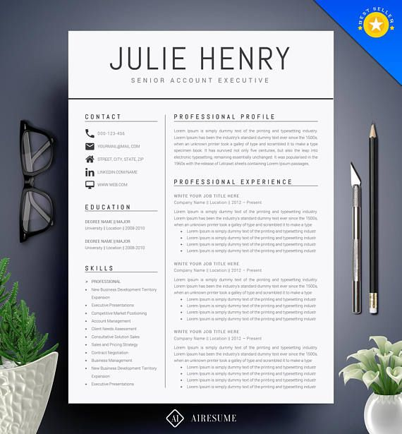 modern resume template cv template cover letter professional and creative resume teacher resume word resume instant download - How To List Skills On A Resume