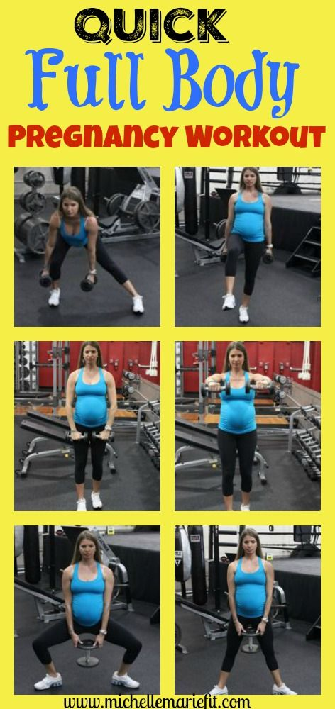 Quick full body workout program that can be done from home. Will help you not gain a ton of weight during pregnancy. http://michellemariefit.publishpath.com/quick-pregnancy-workout-dont-gain-excess-weight