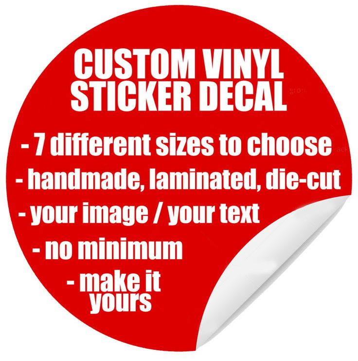 Custom Vinyl Sticker Decal Labels Personalised Text Image Design - Custom vinyl stickers no minimum