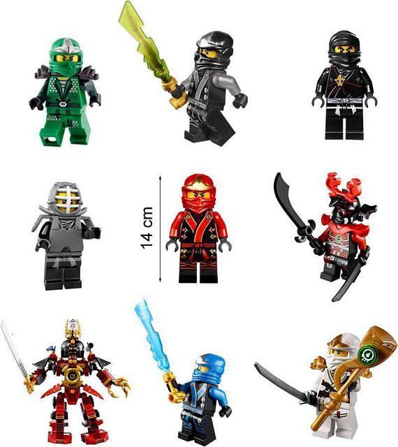 Ninjago LEGO 9 Characters Set Vinyl Removable Wall Sticker
