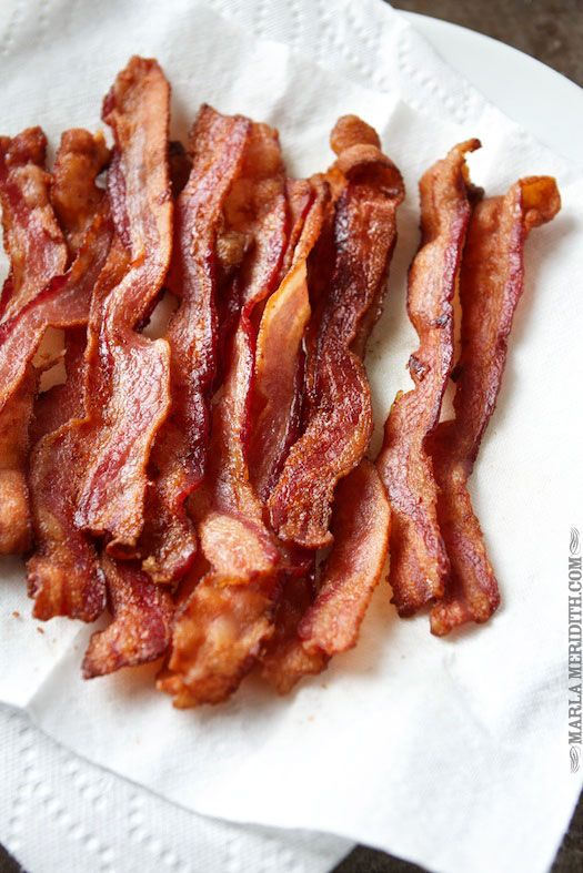 How to: Perfectly Baked Bacon | 400 degree oven for 15 to 18 minutes on a foil lined pan with sides. Let drain on paper towel lined plate.