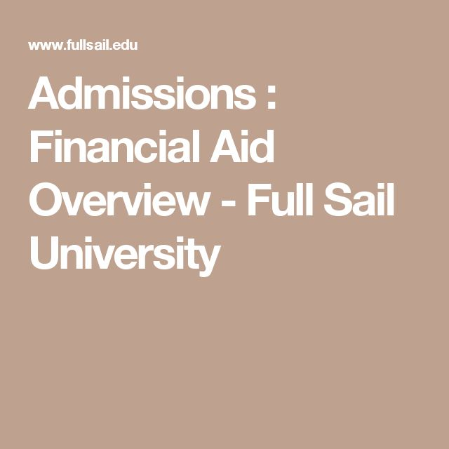 Admissions : Financial Aid Overview - Full Sail University
