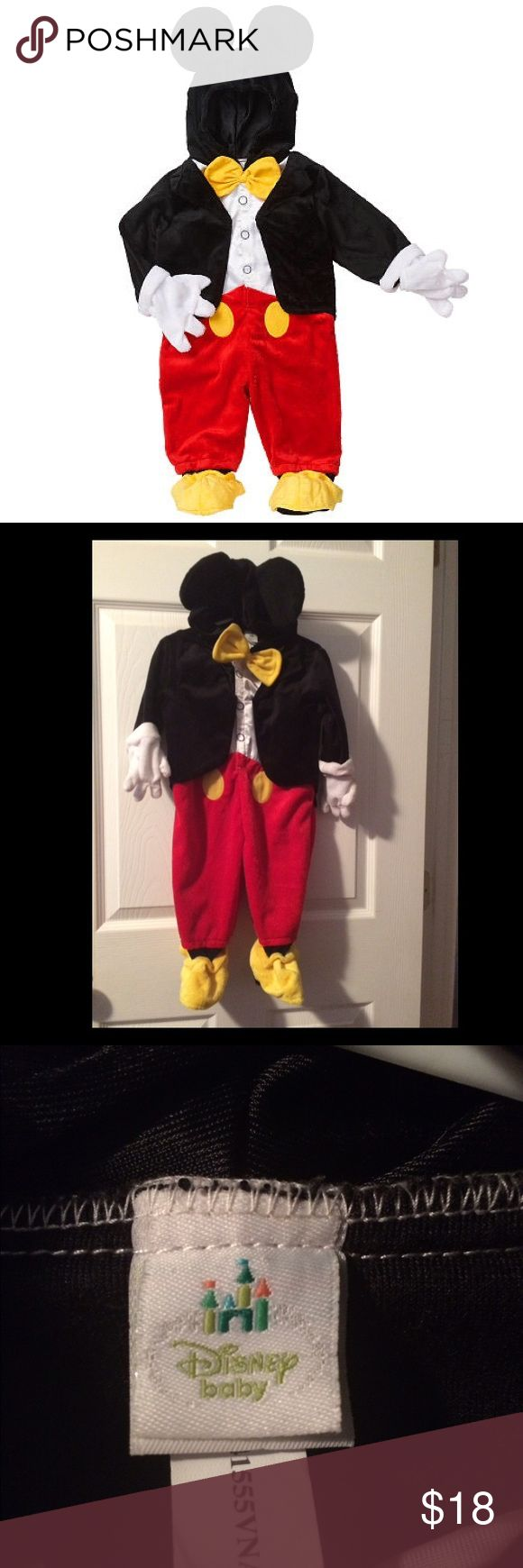 SALE 🐣 Mickey Mouse Costume 6-9 Months Disney Mickey Mouse Costume 6-9 Months Disney Baby Runs Big - fit 12 month old Disney Costumes Halloween