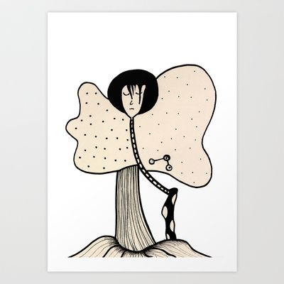 Butter Fly Art Print by Joe Pansa - $17.68