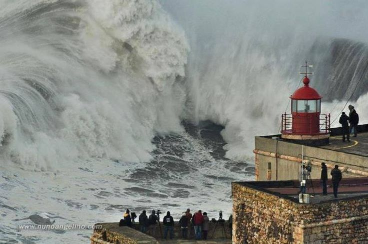 Photos like this from Nazare in Portugal this week show how small we really are in comparison to the power of Mother Nature!