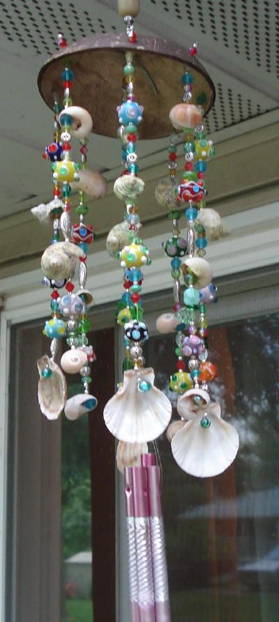 ... , Beading Tips & Techniques: Wind Chime - Sea Shells & Glass Beads