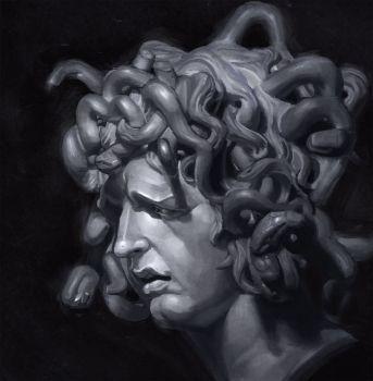 Bernini's Medusa Study by VisHuS702