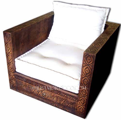 Carved Chair: Handmade Chair, Cedar Chair, Moroccan Chair, Moroccan Cedar  Salon Chair, Carved Furniture X X High