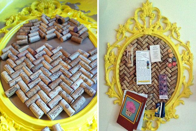 Craft Projects Using Wine Corks | ... the corks in a chevron pattern? Genius! (via Suze Geeks Out