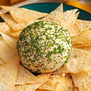 Crab-Rangoon cheese-ball, perfect for something different for a holiday gathering.
