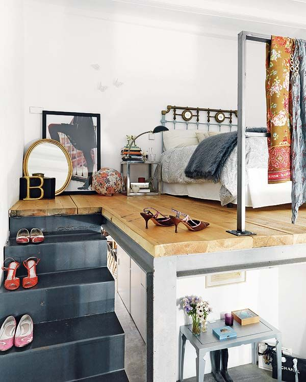Loft Bed With Closet Underneath: 17 Best Images About Loft // Bed // Closet // Stairs On