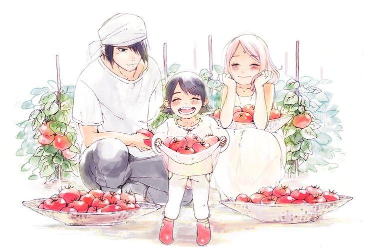 Uchiha Family with lots of Tomatooooooooooos!!!