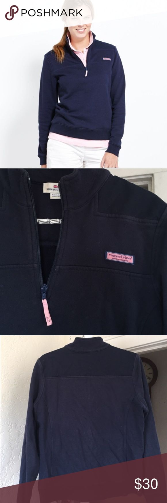 Vineyard Vines Shep zip up M navy nautical Size M Shep Vineyard Bines zip up. Classic piece. Older, but VV still sells this style. Some light fading, but overall very good condition. Size medium. Vineyard Vines Tops Sweatshirts & Hoodies