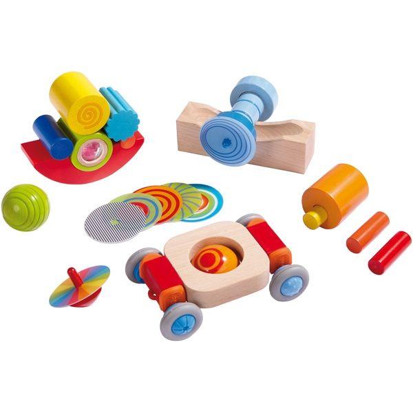 ¡Los niños entran en acción! Rodillos, bolas, discos rotatorios... Un set completo para que descubran impresionantes efectos en movimiento #juguetes #piezas #kanikas
