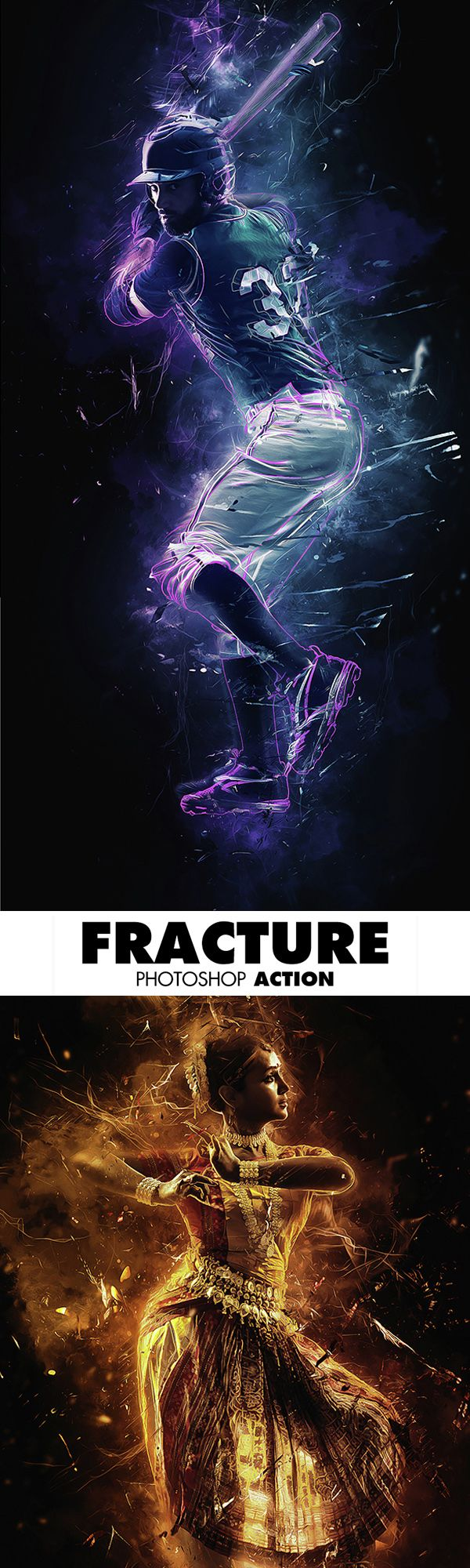 Fracture Photoshop Action #bestactions #photoeffect #photography #photoshopaction