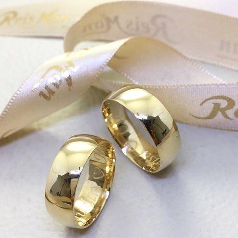 Alianças Largas Grossas 6.5mm   Reisman Alianças    Wedding Ring 18K Gold.