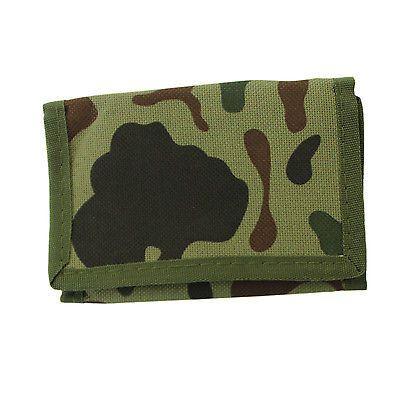 Green Camouflage Wallet Bill Fold Babylon System Reggae Army Camo VELCRO