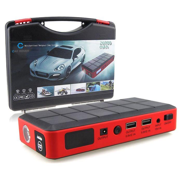 26000 mAh Auto Notstart Batterie Starthilfe Booster Akku tragbare Auto Power Bank für Elektronik EU US AU Ladegerät stecker
