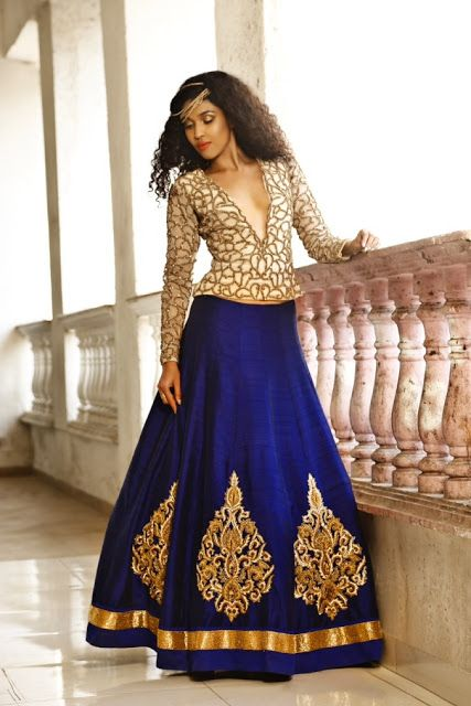 Europe Fashion Men's And Women Wears......: Gorgeous Look Stylish Engagement Lehenga for Weddi...