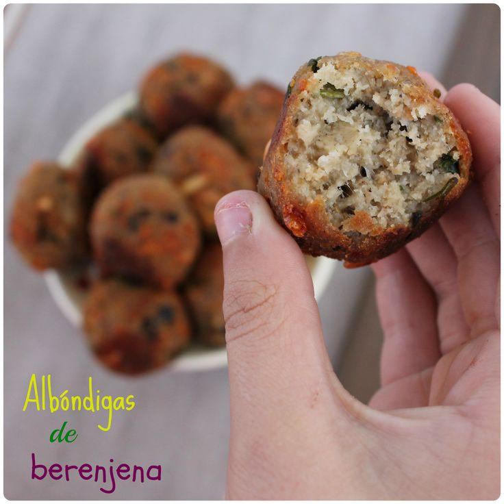 ALBÓNDIGAS DE BERENJENA {receta vegetariana}