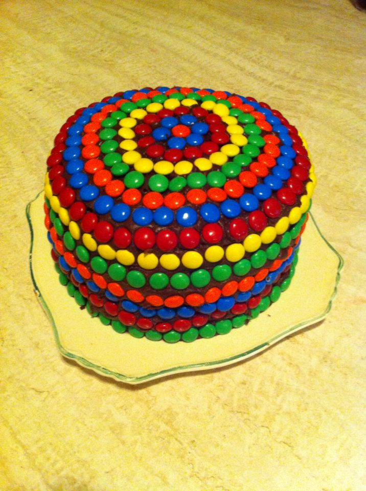 Super Decadent Chocolate Cake made perfect with M&M's