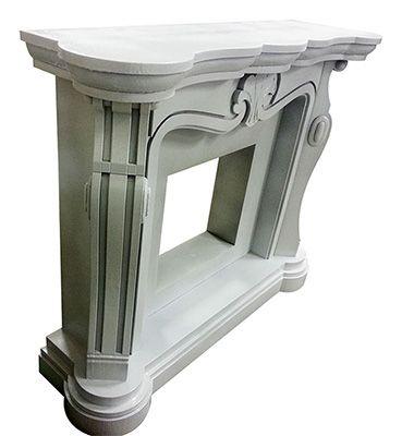 Faux fireplace Finto camino decorativo in polistirolo e resina. Disponibile su www.materik.it #caminofinto #caminifinti #finticamini