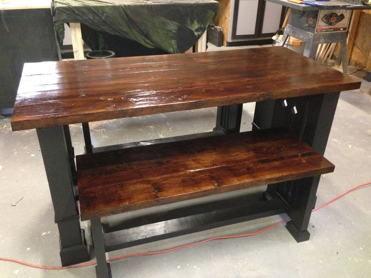 Excited to share the latest addition to my #etsy shop: Pub style table and benches